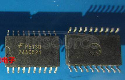 74AC521SC 8-Bit Identity Comparator<br/> Package: SOIC-Wide<br/> No of Pins: 20<br/> Container: Rail