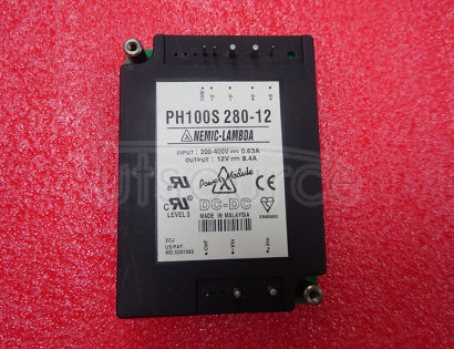 PH100S280-12 Simple function, 50 to 600W DC-DC converters