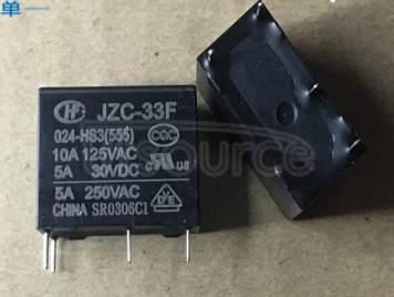 JZC-33F-024-HS3(555) HF33F-024-HS3 24V 10A 4PINS