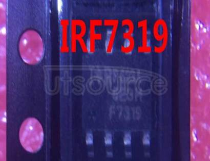 IRF7319TRPBF 30V Dual N- and P- Channel HEXFET Power MOSFET in a SO-8 package<br/> Similar to IRF7319TR with Lead Free Packaging on Tape and Reel