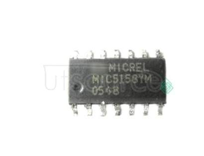 MIC5158YM Linear Voltage Regulator IC<br/> Package/Case:14-SOIC<br/> Output Voltage Max:5V<br/> Voltage Regulator Type:Low Dropout LDO<br/> Mounting Type:Surface Mount