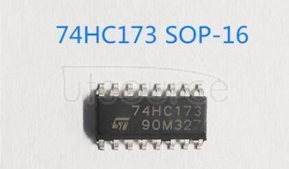 74HC173 Quad D-type flip-flop; positive-edge trigger; 3-state