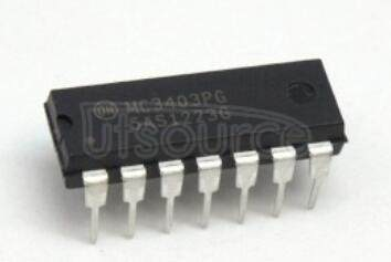 MC3403PG Single Supply Quad Operational Amplifiers