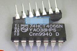 74HCT4066N Quad bilateral switches - Description: Quad Bilateral Switch; Low ; Logic switching levels: TTL ; On resistance: 35 Ohms; Power dissipation considerations: Low Power ; Propagation delay: 3 ns; Voltage: 2.0-10.0 V