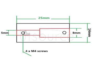 3D printer accessories aluminum alloy coupling ship model coupling DIY coupling 5*5