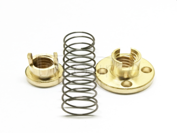 3D printer accessories T8 screw T8 copper nut clearance clearance clearance difference nut ladder stainless steel screw pitch 2MM, lead range 8MM, nut turn a turn of 8MM