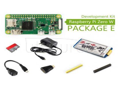 Raspberry Pi Zero W Package E, with 2.13inch e-Paper HAT