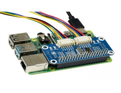 Serial Expansion HAT for Raspberry Pi, I2C Interface, 2-ch UART, 8 GPIOs