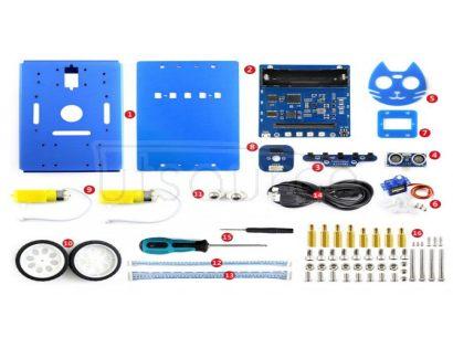 KitiBot 2WD robot building kit for micro:bit