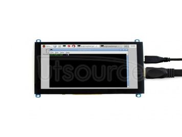 5inch HDMI LCD (H), 800x480, supports various systems, capacitive touch
