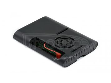 Black ABS Case for Raspberry Pi 4, with Cooling Fan