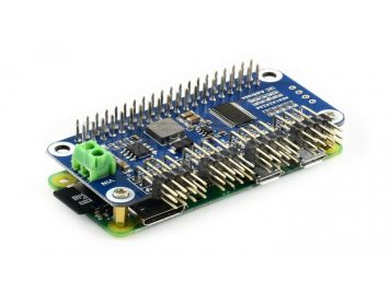 Servo Driver HAT (B) for Raspberry Pi, 16-Channel, 12-bit, I2C