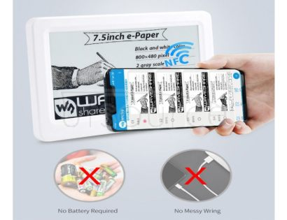 7.5inch Passive NFC-Powered e-Paper, No Battery
