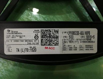 LM1085IS-ADJ/NOPB Linear Voltage Regulator IC Positive Adjustable 1 Output 1.25 V ~ 15 V 3A DDPAK/TO-263-3