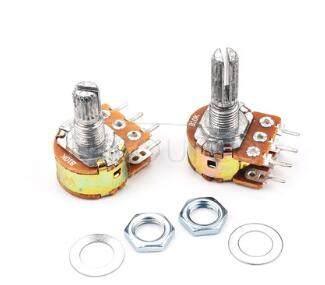 Wh148 B50K Dual Gang Potentiometer(Adjustable Resistors) Handle Length 20Mm 6Pin(10pcs)
