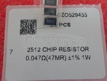 2512 Chip Resistor 0.047Ω(47mR) ±1% 1W
