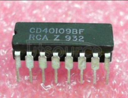 CD40109BF CMOS QUAD LOW-TO-HIGH VOLTAGE LEVEA SHIFTER