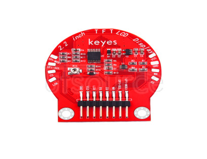 keyes Round TFT LCD Smart Watch LCD Module Red and Eco-friendly