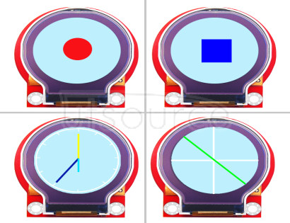 keyes Round TFT LCD Smart Watch LCD Module Red and Eco-friendly The keyes round TFT LCD smart watch LCD module is a 2.2-inch TFT LCD display module. It input 3.3V ~ -5.5V,and display colorful patterns and text.It can realize multiple pattern circulation display and dynamic display effect at the fastest speed 256ms. At present, 19 common colors are defined in the library, and users can also customize 16-bit color codes.