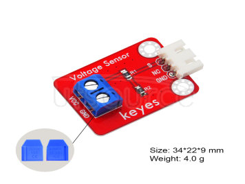 keyes brick Voltage Sensor (Pad holes)With White Anti-reverse Interfaces