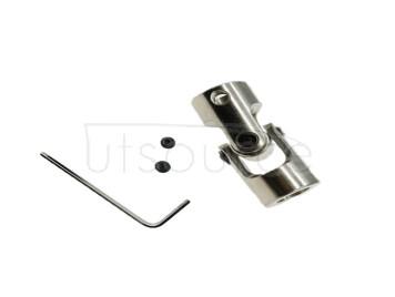 Metal universal joint coupling precision cross universal joint steering gear joint universal joint model accessories M4*6 (10PCS)