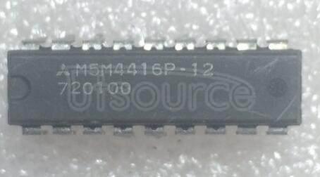 M5M4416P-12 65,536-BIT 16,384-WORD BY 4-BIT DYNAMIC RAM