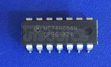 MC74HC58N 2-Wide, 2-Input/2-Wide, 3-Input AND-OR Gates