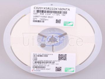 EYANG(Shenzhen Eyang Tech Development) C0201X5R222K160NTA(100pcs)