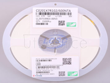 EYANG(Shenzhen Eyang Tech Development) C0201X7R102J500NTA(100pcs)