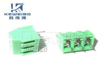 3.81X3 green terminal, locking screw