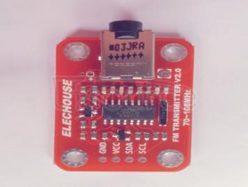 An FM Radio Transmitter Module creates the Radio Transmitter Module
