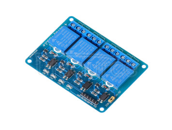 Four-way relay extension 5V with optocoupler isolation support AVR/51/PIC MCU