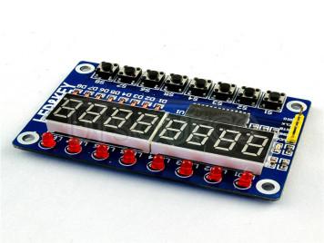 TM1638 digital LED display module (8-bit digital \LED\ button) electronic module
