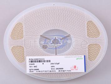 CEC(Shenzhen Zhenhua XinYun Elec) CA45-B-25V-3.3uF-K(5pcs)