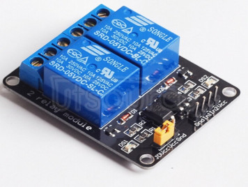 Two-channel 5V relay module with optocoupler isolation low level trigger two-channel relay module