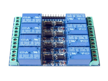8-channel 5V 10A optocoupler isolated relay module