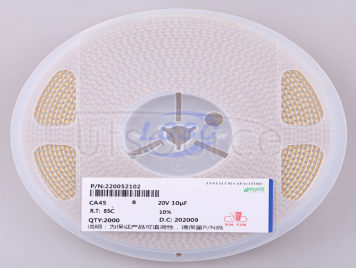 CEC(Shenzhen Zhenhua XinYun Elec) CA45-B-20V-10uF-K(5pcs)