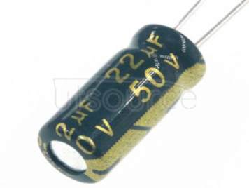 50V22UF  PLUG IN ELECTROLYTIC CAPACITOR