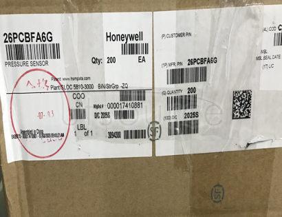 26PCBFA6G HONEYWELL Pressure transducer ±5 PSI(±34.47 kPa) Compound Male - 0.2' (5mm) Tube 0 mV ~ 50 mV (10V) 4-SIP Module