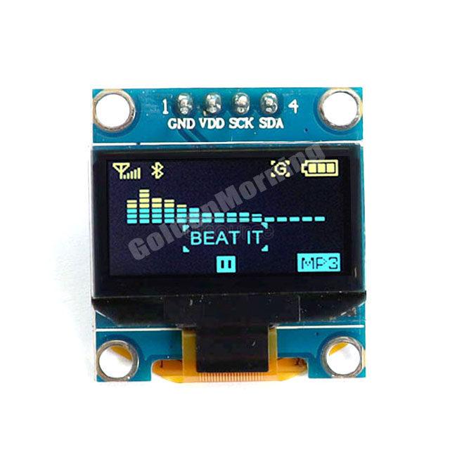 Hot Product Yellow&Blue Colour 12864 SSD1315 IIC I2C 0.96 Display OLED Screen Module