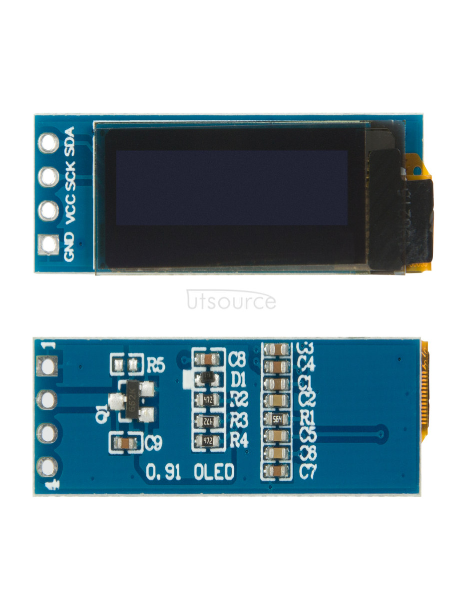 Shenzhen Factory White SSD1306 128X32 0.91'' Inch I2C Oled 0.91 Oled Display Module