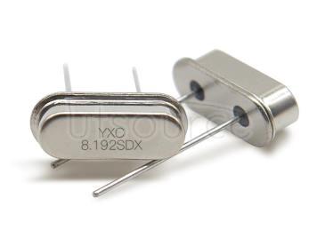 HC-49S Crystal Oscillator 8.192MHZ 20PF 20PPM X49SD8192MSD2SC-1
