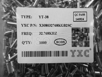 YT-38 DIP 32.768KHZ 12.5PF 10PPM X308032768KGB2SC