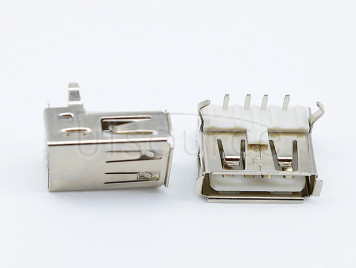 USB interface Type A female socket 90 degree horizontal plug Conventional USB socket AF90 degree bent feet T-shaped flat head <20PCS>
