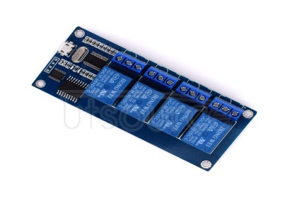 4-way 5V relay module relay control board with indicator light relay USB input