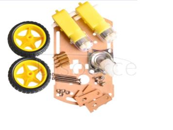 Smart car chassis, base bracket, mini mini kit, tracking remote control, two drive, three wheel, universal wheel spare parts