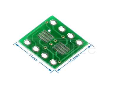 Lead free SO/MSOP/TSSOP/SOIC/SOP8 to DIP8 wide body narrow body adapter board PCB 8PIN Process: black PCB board or green PCB board randomly issued Positive: Pin spacing 1.27mm, suitable for the commonly used SO8, SOP8, SOIC8 package transfer into DIP8 direct plug. Ws: Pin spacing 0.65mm, suitable for the commonly used SSOP8, TSSOP8, MSOP8 package transfer to DIP8 direct plug.