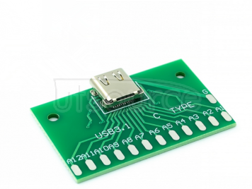 Type-C female head test board USB 3.1 with PCB board 24P female seat connector adapter board to measure current conduction