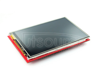 3.5-inch TFT color screen module 320X480 ultra high-definition LCD screen support UNO MEGA2560 DUE(color screen with touch red PCB)