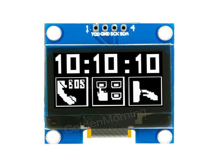 GoldenMorning 128x64 IIC/I2C Interface 4P IC SSD1315 1.3 Inch White Module 1.3inch Oled